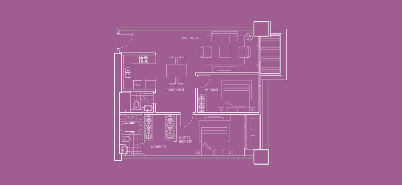 Pondok Indah Residences Maya Tower Tipe 2 BR