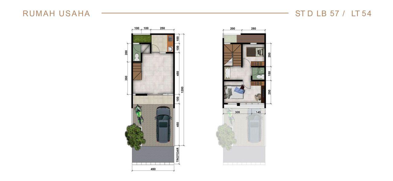 Rumah Usaha Modernland Cilejit Tipe 57