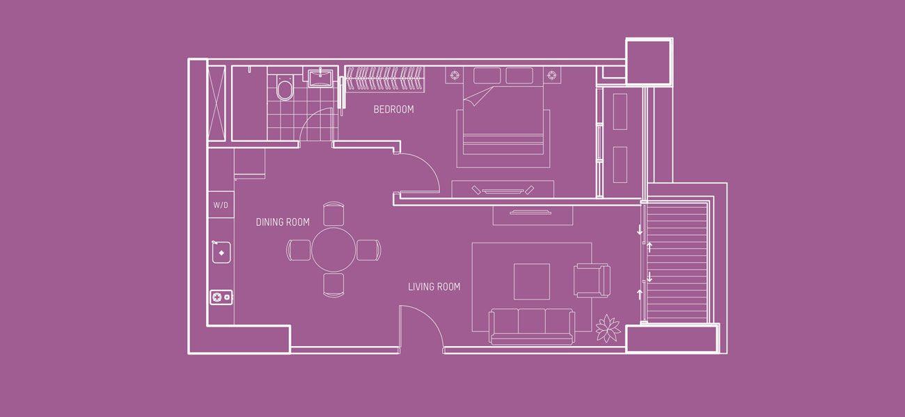 Pondok Indah Residences Maya Tower Tipe 1 BR