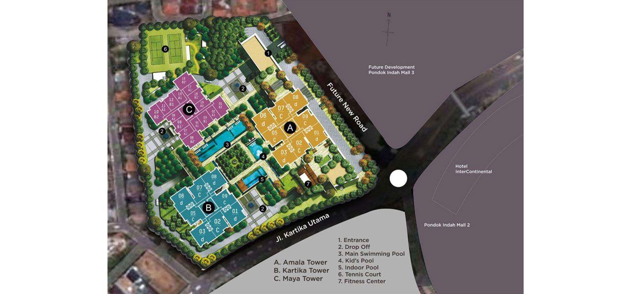 Residensial Pondok Indah Residences di Jakarta Selatan