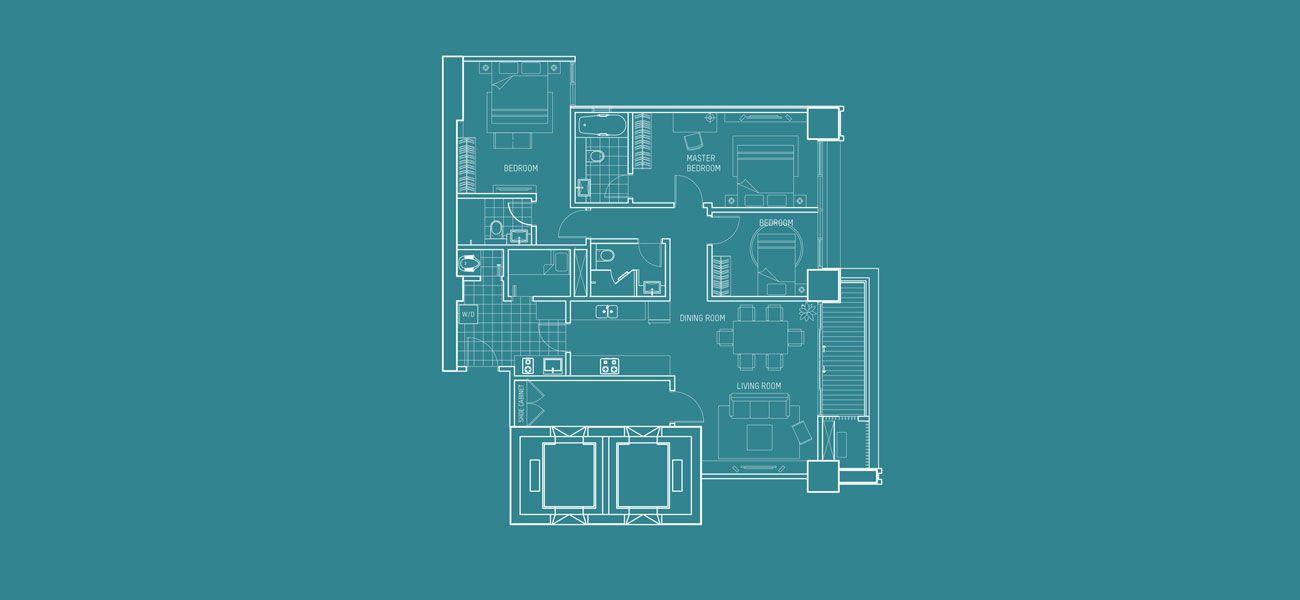 Pondok Indah Residences Kartika Tower Tipe 3 BR