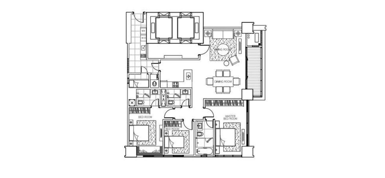 Pondok Indah Residences Amala Tower Tipe 3 BR