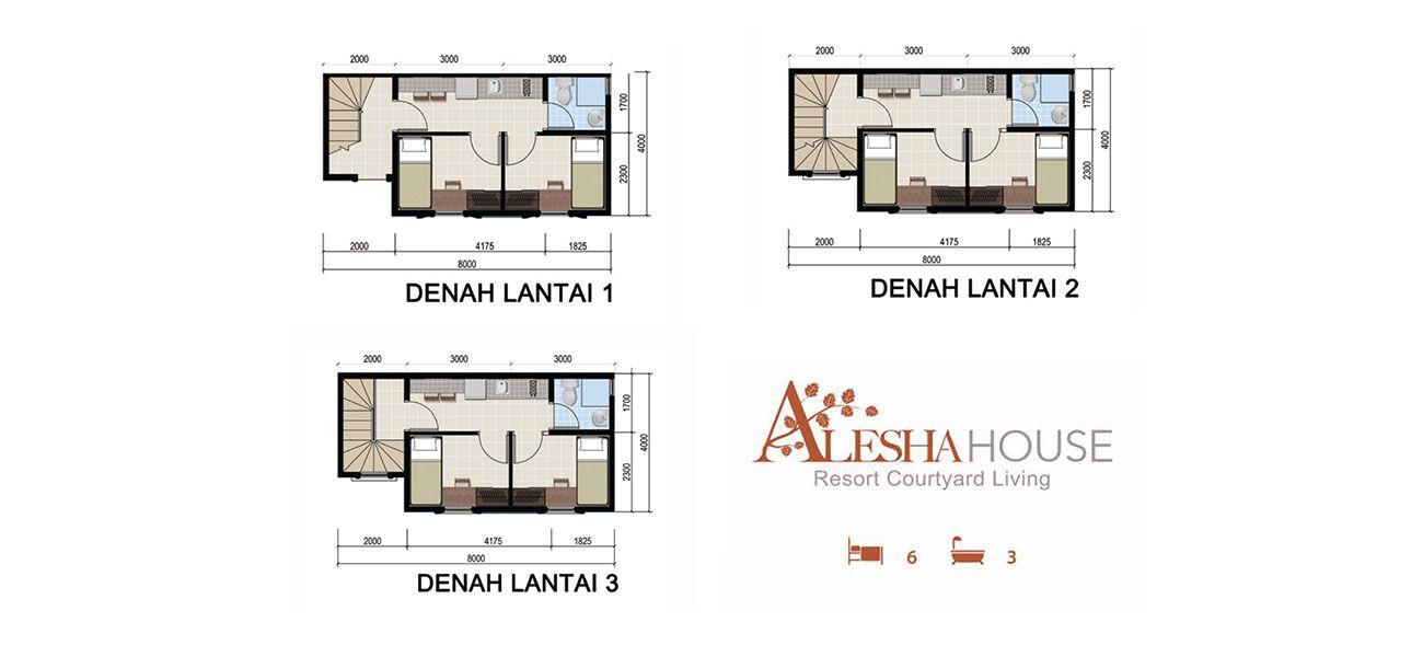 Alesha House at Vanya Park Tipe 6 BR