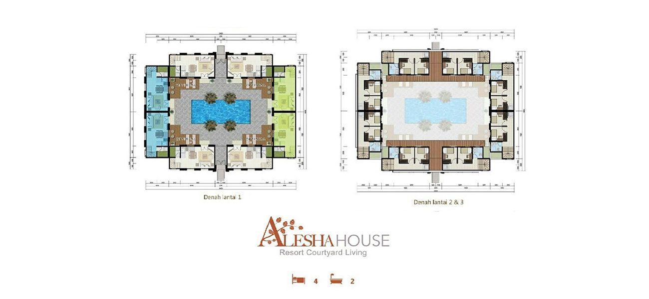 Alesha House at Vanya Park Tipe 4 BR