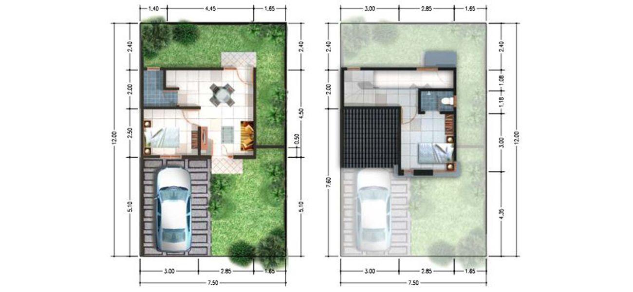 Residensial & Komersial Spring Residence Sidoarjo Tipe 45/90 di Sidoarjo