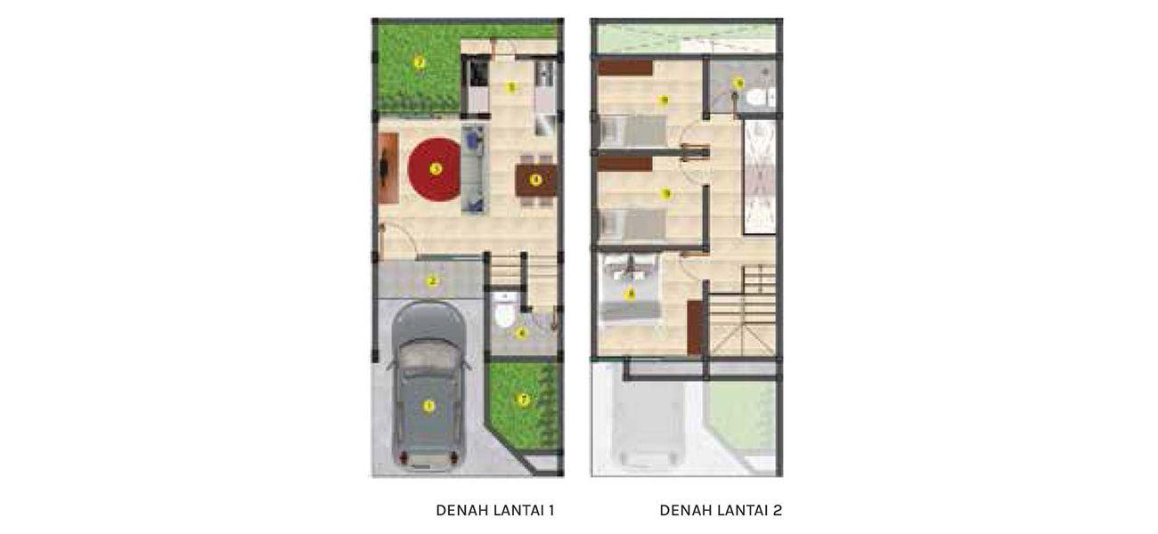Residensial Balboa Estate Bintaro Tipe 5 di Tangerang