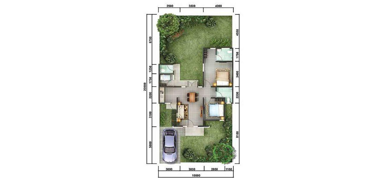 Residensial + Komersial Citra Indah Cluster Bukit Jasmine Tipe 70 di Bogor