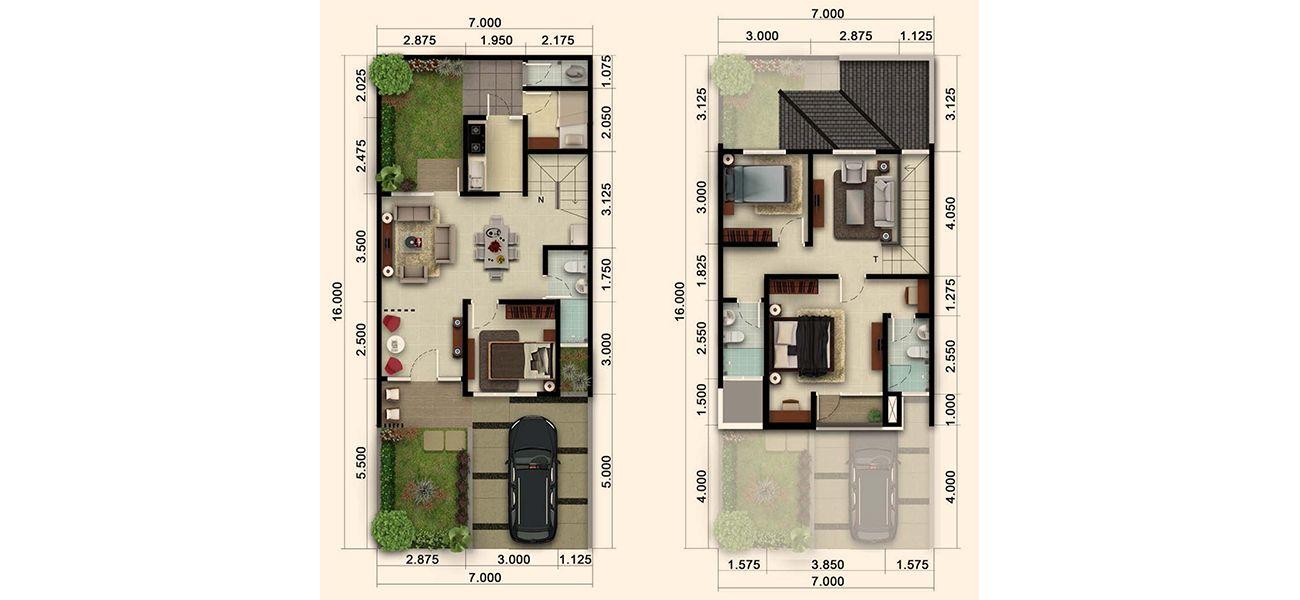 Residensial & Komersial Cluster Nashville Tipe 129 di Bogor