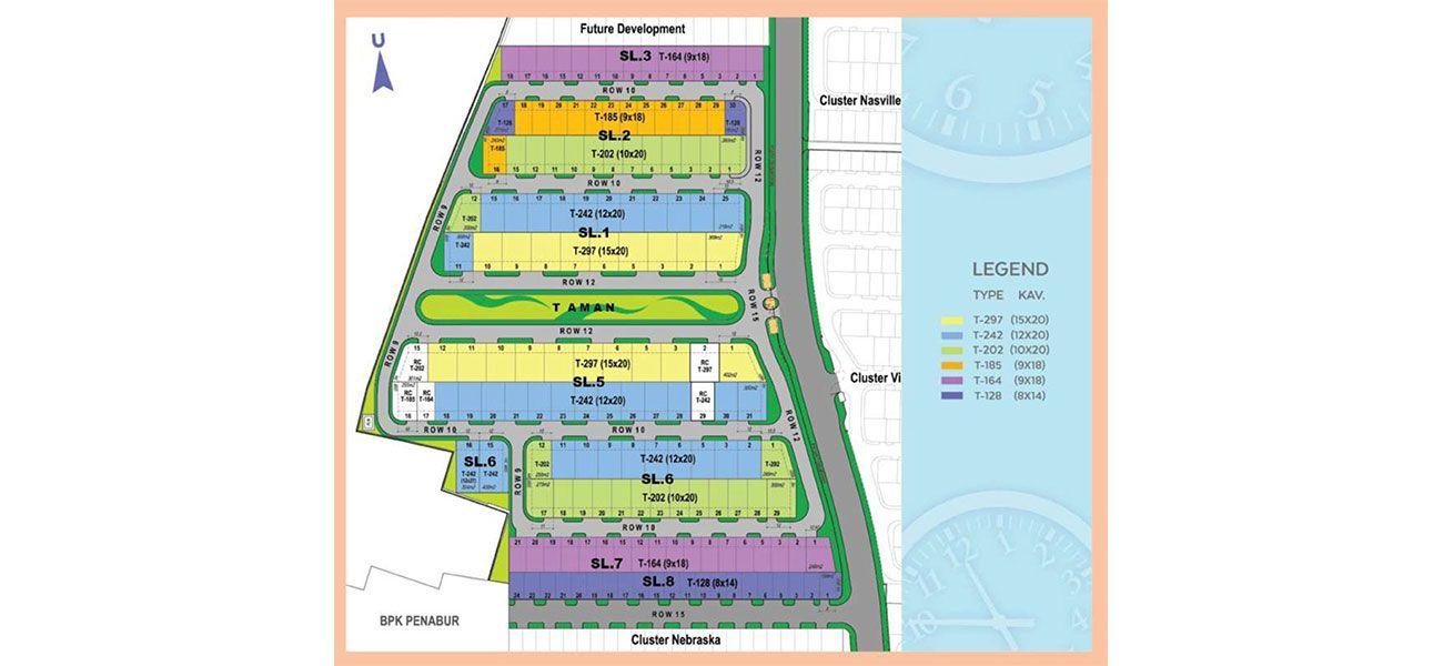 Residensial & Komersial Cluster Miami Tipe 8 di Bogor