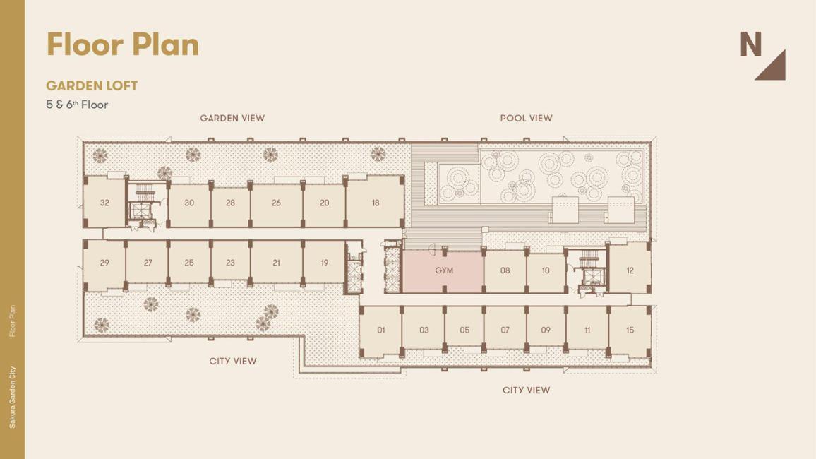 Residensial + Komersial Sakura Garden City Tipe Garden Loft di Jakarta Timur
