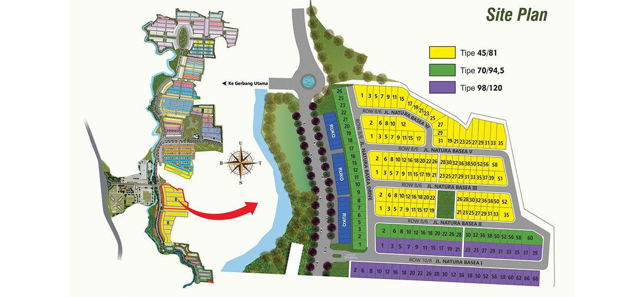Residensial Serpong Natura City Cluster Natura Basea di Bogor