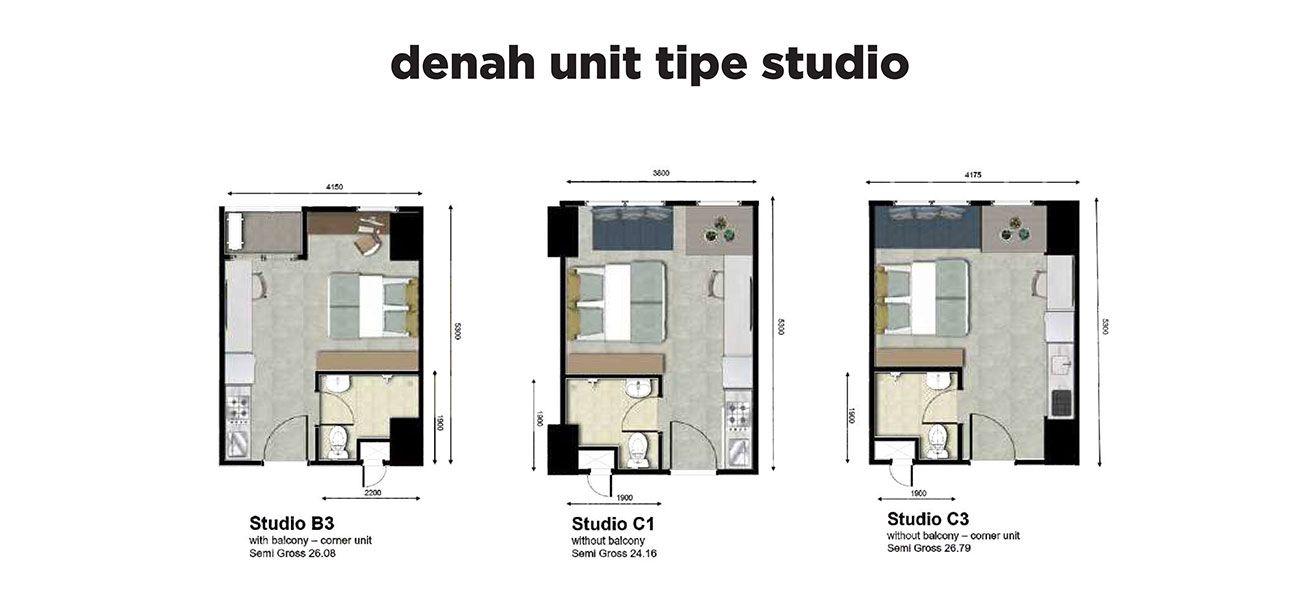 Residensial LRT City Green Avenue Tipe Studio di Bekasi