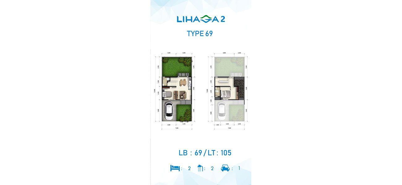 Residensial Cluster Lihaga 2 at Tamansari Metropolitan Residence Tipe 69 di Manado