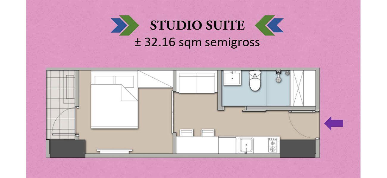 Residensial Homeyard Suites Tipe Studio di Jakarta Selatan