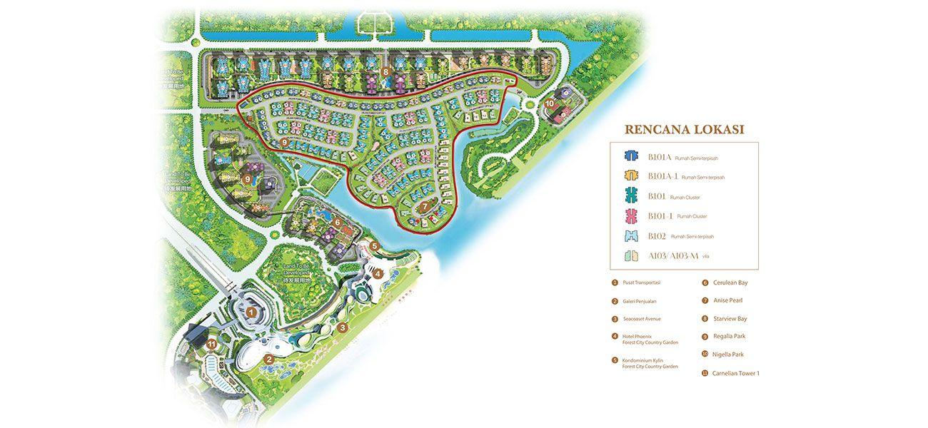 Residensial & Komersial Coastal Villa at Forest City Tipe A103 di Jakarta Utara