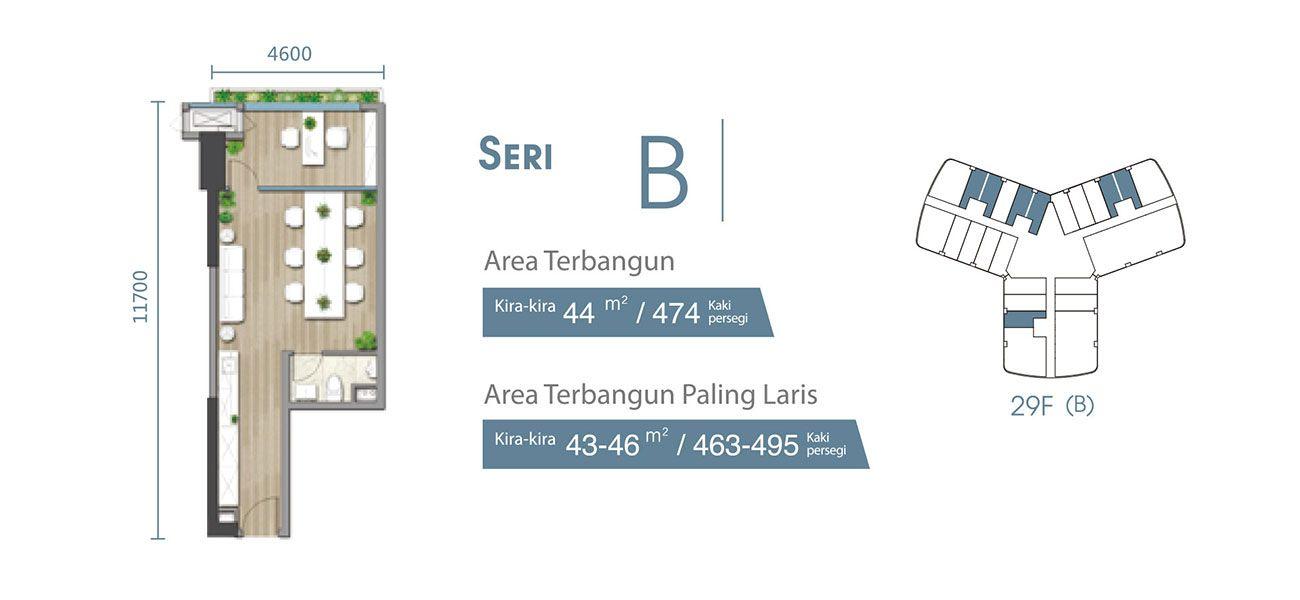 Residensial & Komersial Carnelian Tower at Forest City Seri B di Jakarta Utara