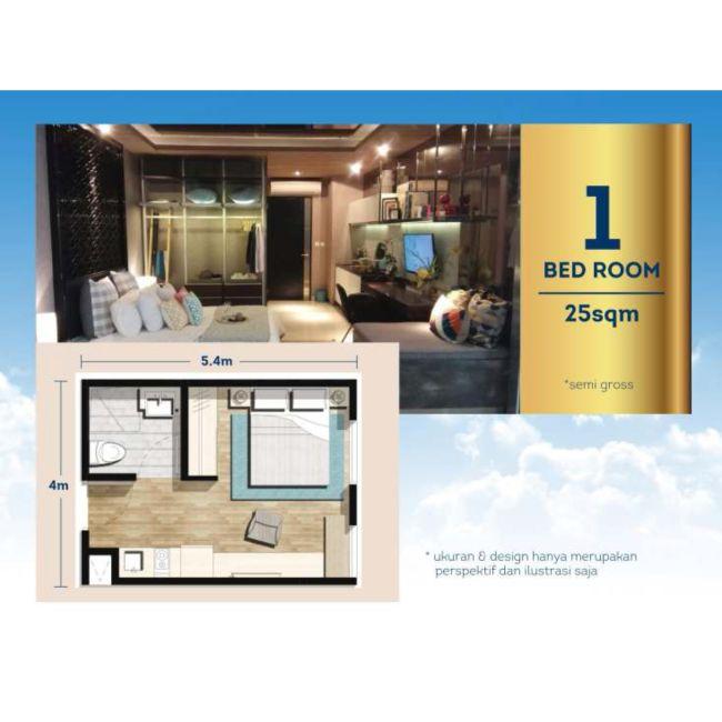 Residensial Chadstone Apartemen Tipe 1 Bedroom di Bekasi
