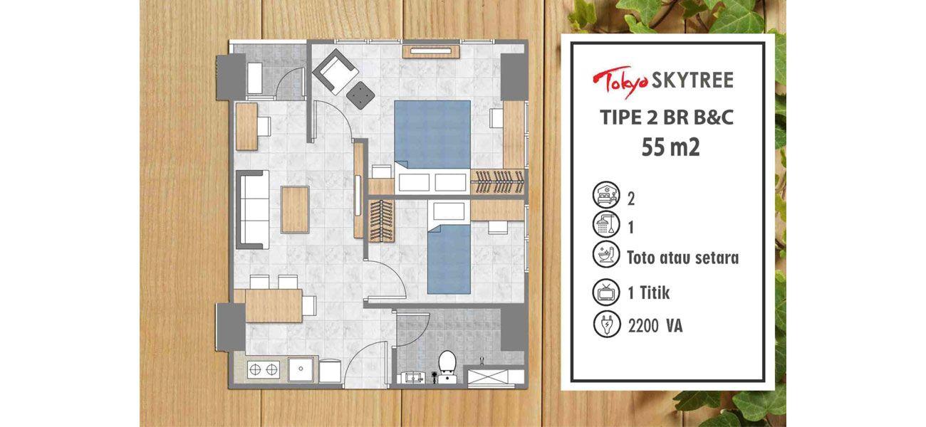 Residensial PIK 2 – Tokyo Skytree Tipe 2 BR di Jakarta Utara