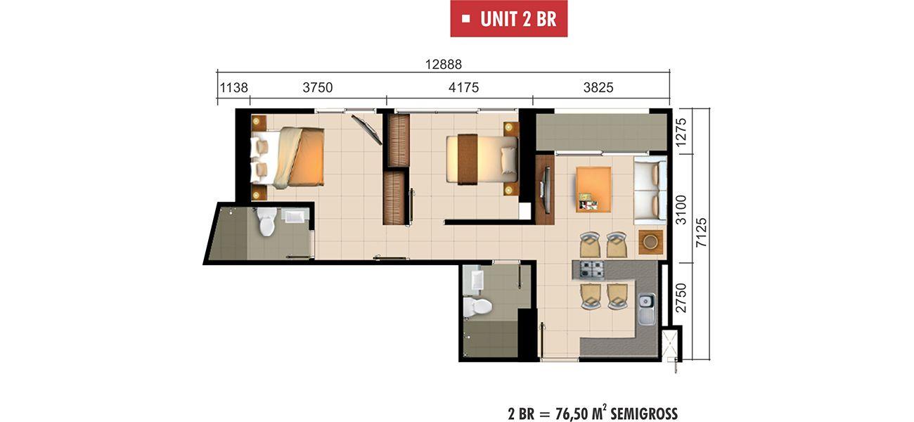 Residensial Paddington Heights Unit 2 BR di Tangerang