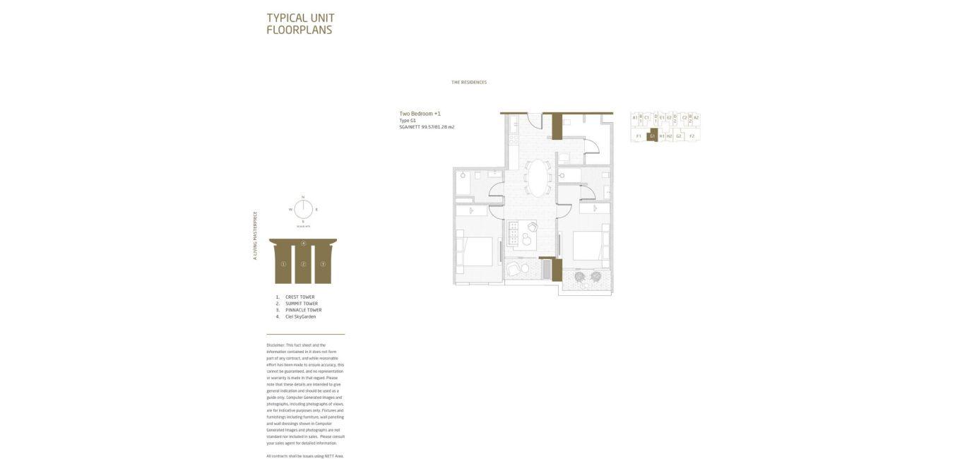 Residensial Opus Park Apartemen Tipe 2 Bedroom + 1 di Bogor