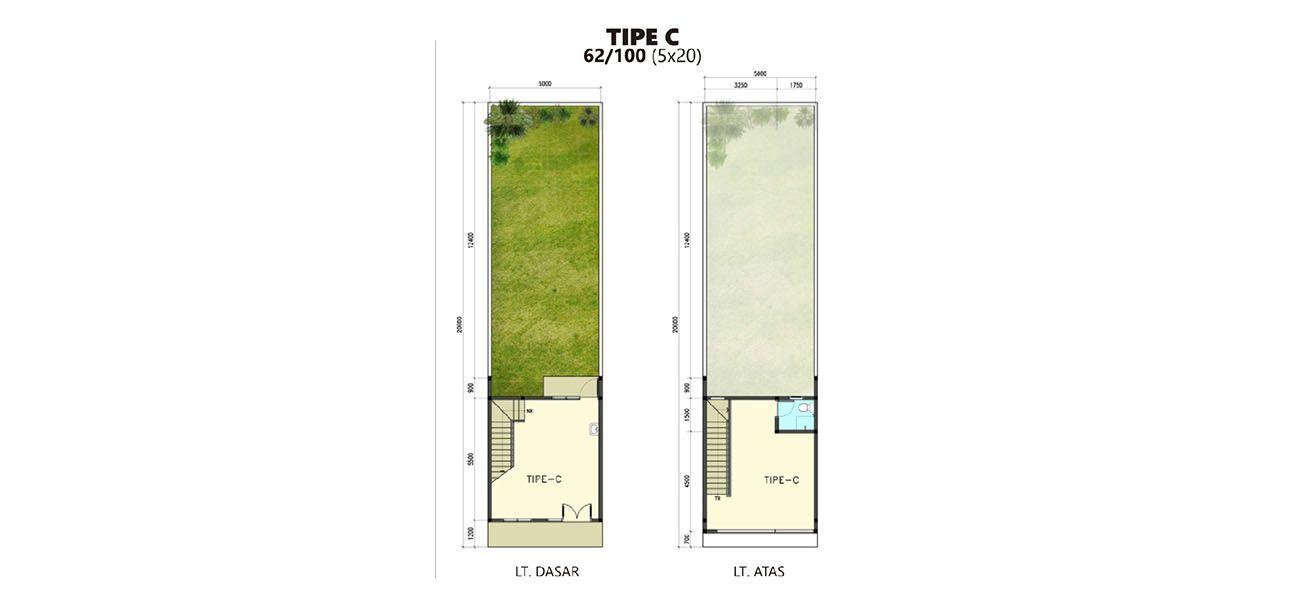 Residensial + Komersial Ruko Citra Indah Tipe 62 di Bogor