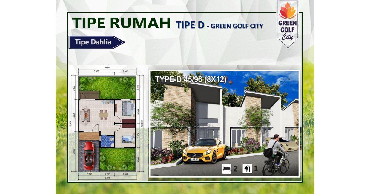 Residensial & Komersial Green Golf City Tipe D di Tangerang