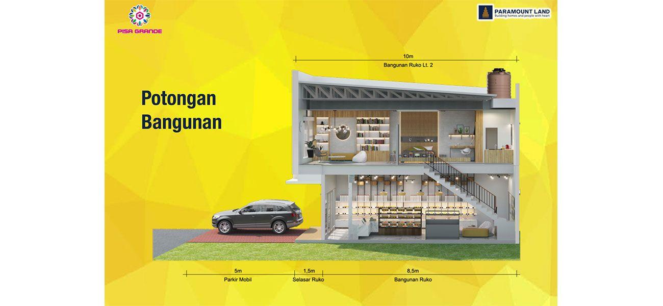 Komersial Ruko Pisa Grande Tipe 2 Lantai di Tangerang