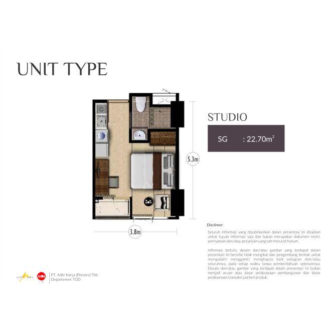 Residensial Royal Sentul Park - LRT City Tipe Studio di Bogor