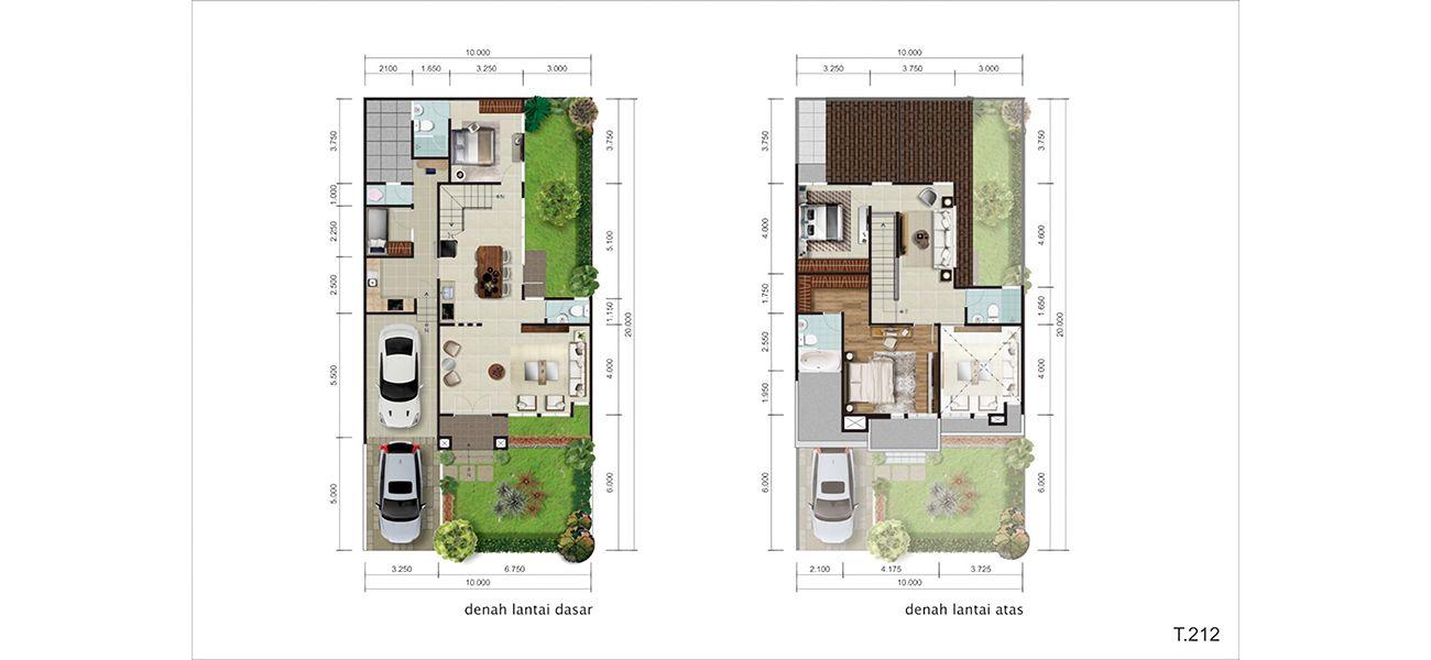 Residensial Bellwood at Kota Wisata Cibubur Tipe 212 di Bogor