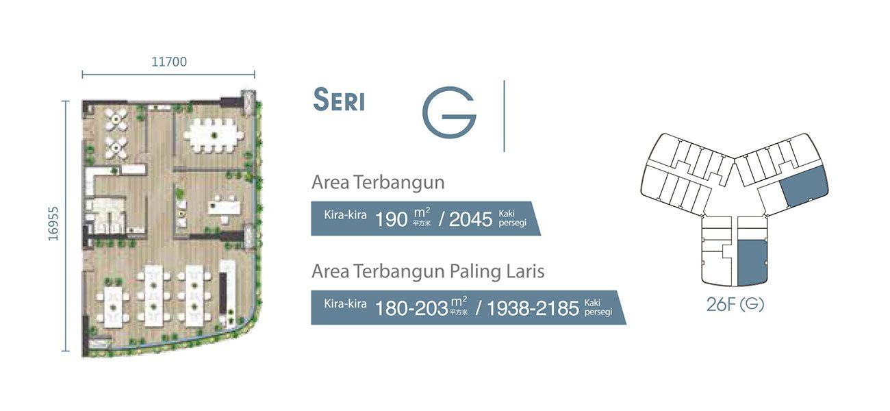 Residensial & Komersial Carnelian Tower at Forest City Seri G di Jakarta Utara