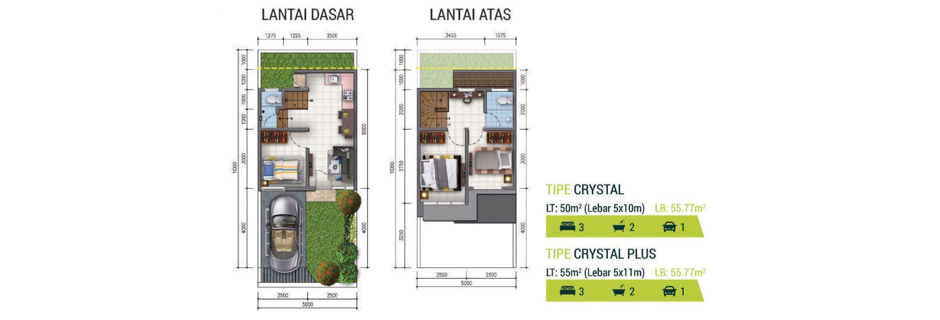 Residensial Golden Stone Tipe Crystal di Tangerang