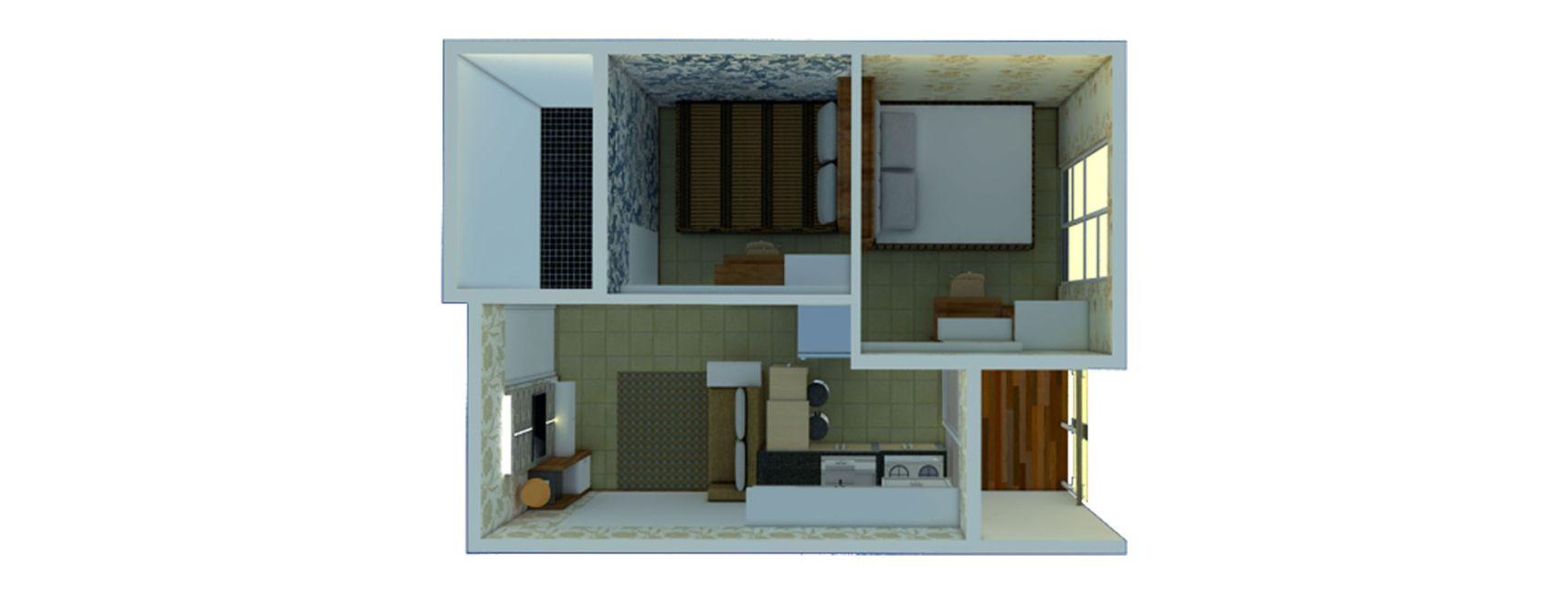 Residensial Jogja Apartel Tipe 2BR di Yogyakarta