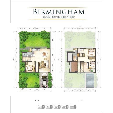 Residensial & Komersial GKIC – Grand Victorian 2 Tipe Birmingham di Manado