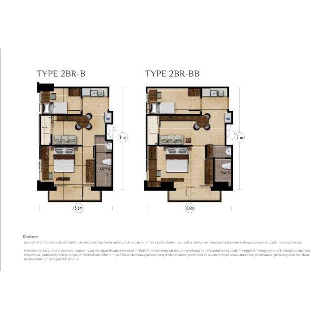Residensial Royal Sentul Park - LRT City Tipe 2 Bedroom di Bogor