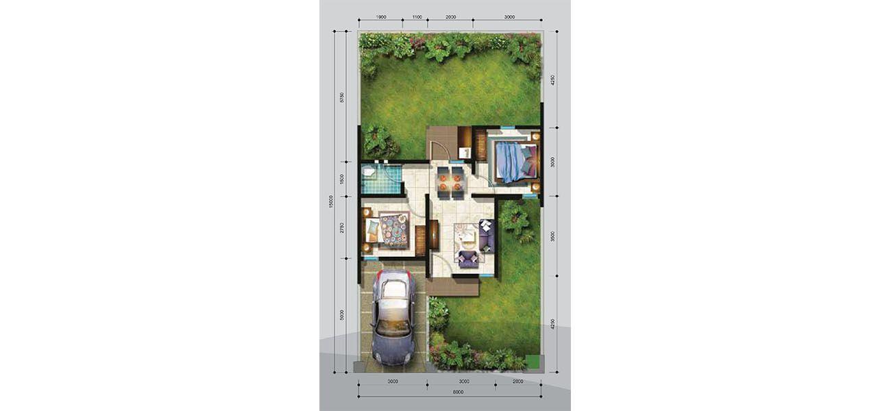 Residensial + Komersial Citra Indah Cluster Bukit Damar Tipe 38 di Bogor