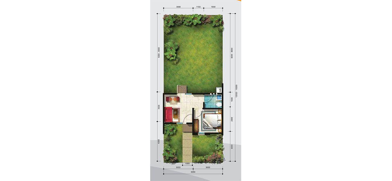 Residensial + Komersial Citra Indah Cluster Bukit Damar Tipe 22 di Bogor