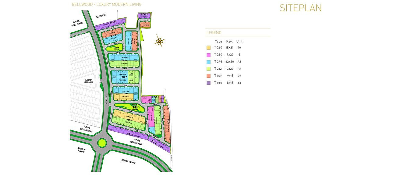 Residensial & Komersial Cluster Bellwood Tipe 157 di Bogor