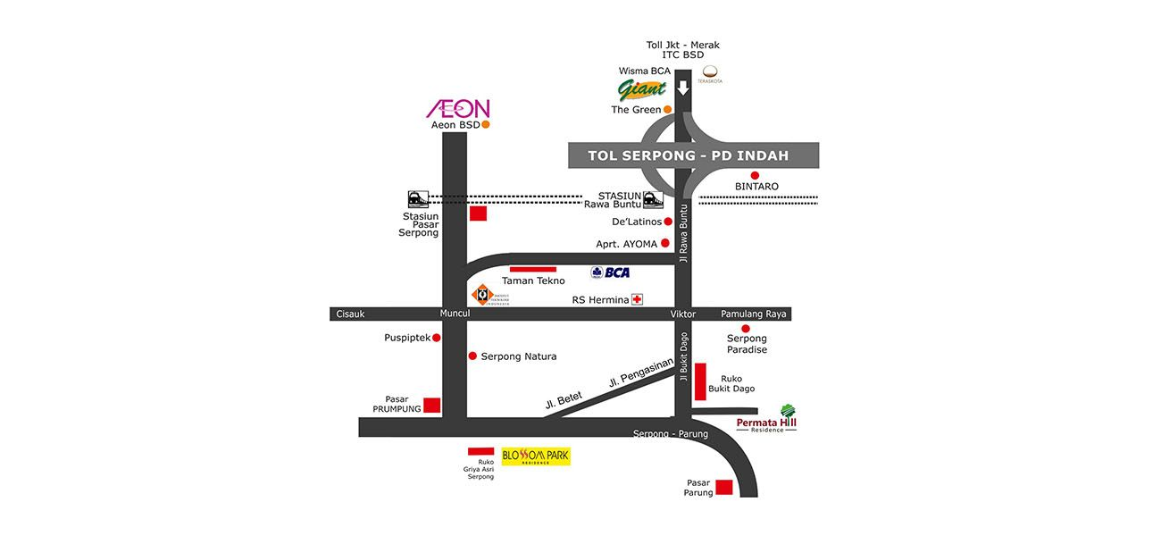 Residensial & Komersial Blossom Park di Bogor