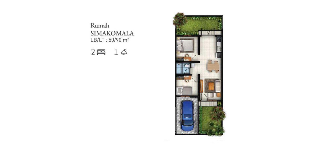 Residensial Cluster Tatar Simakirana Tipe Simakomala di Bandung