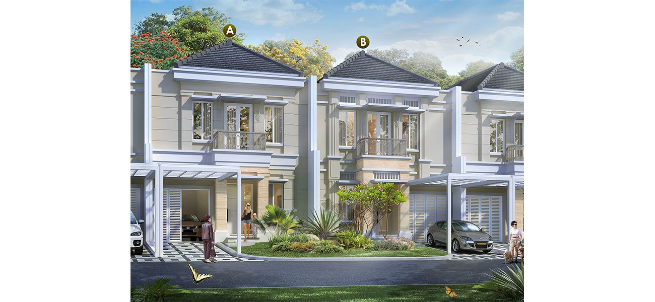 Residensial Cluster Maxwell at Summarecon Serpong Tipe W di Tangerang