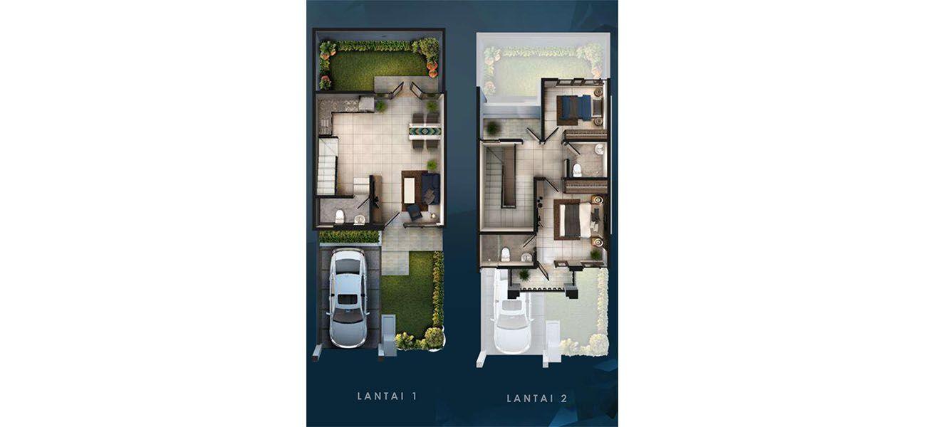 Residensial & Komersial Cluster Amagriya Tipe 6x15 di Bandung