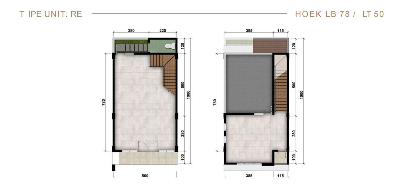 Residensial & Komersial Ruko Modernland Cilejit Tipe RE 78 di Tangerang