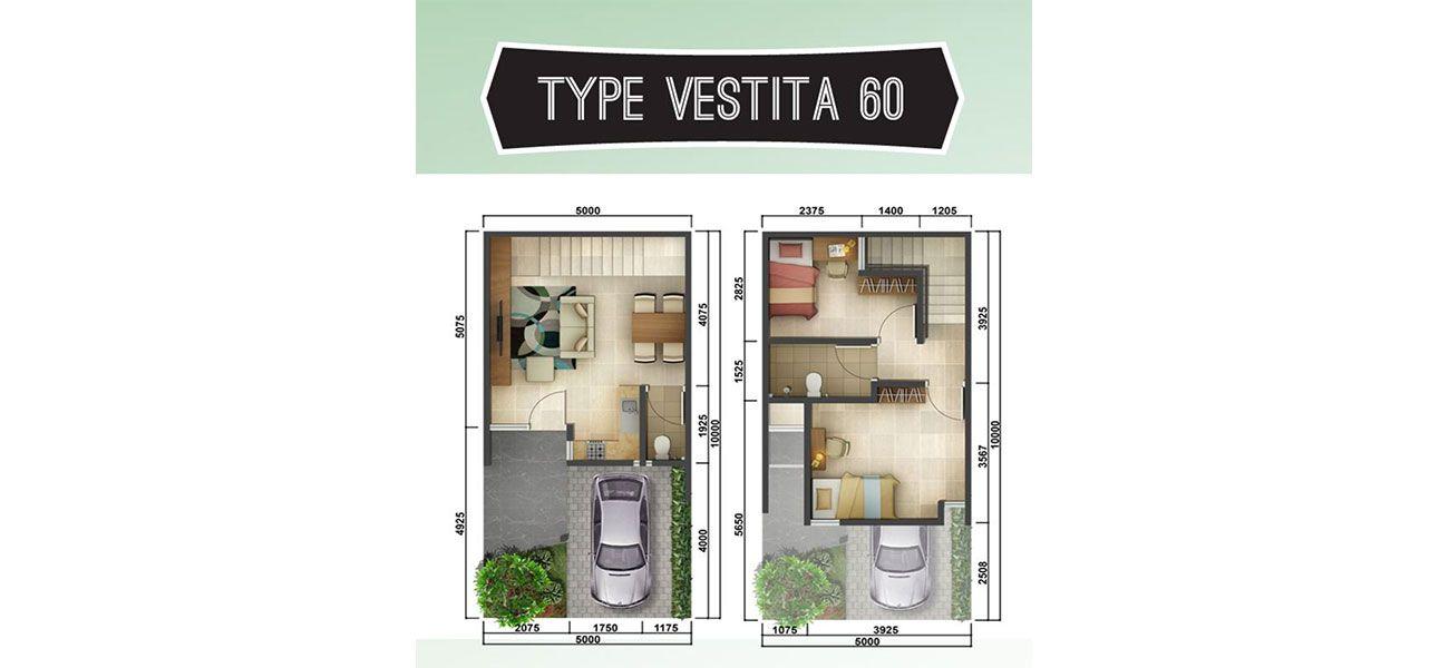 Residensial Akasia Eight Tipe Vestita 60  di Tangerang Selatan