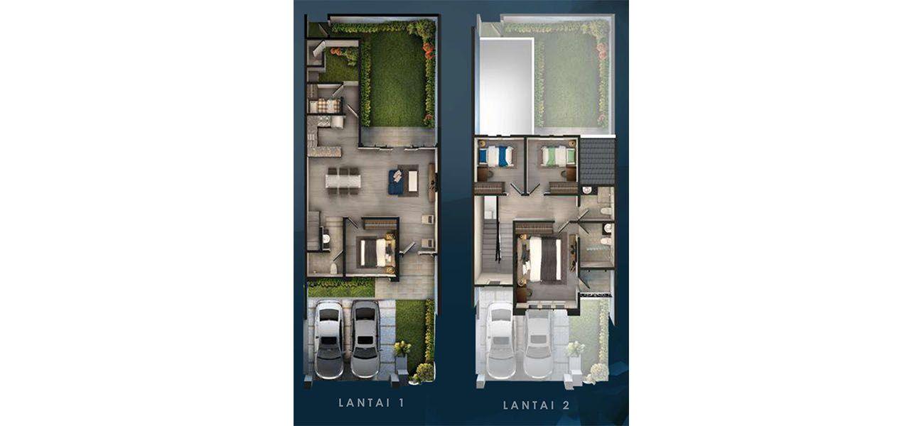 Residensial & Komersial Cluster Anapuri 8x22 di Bandung