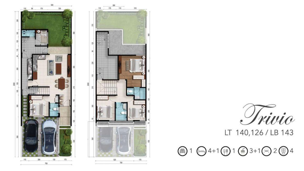 Residensial RKM Tanjung Bunga - The Mansion Tipe Trivio di Makassar