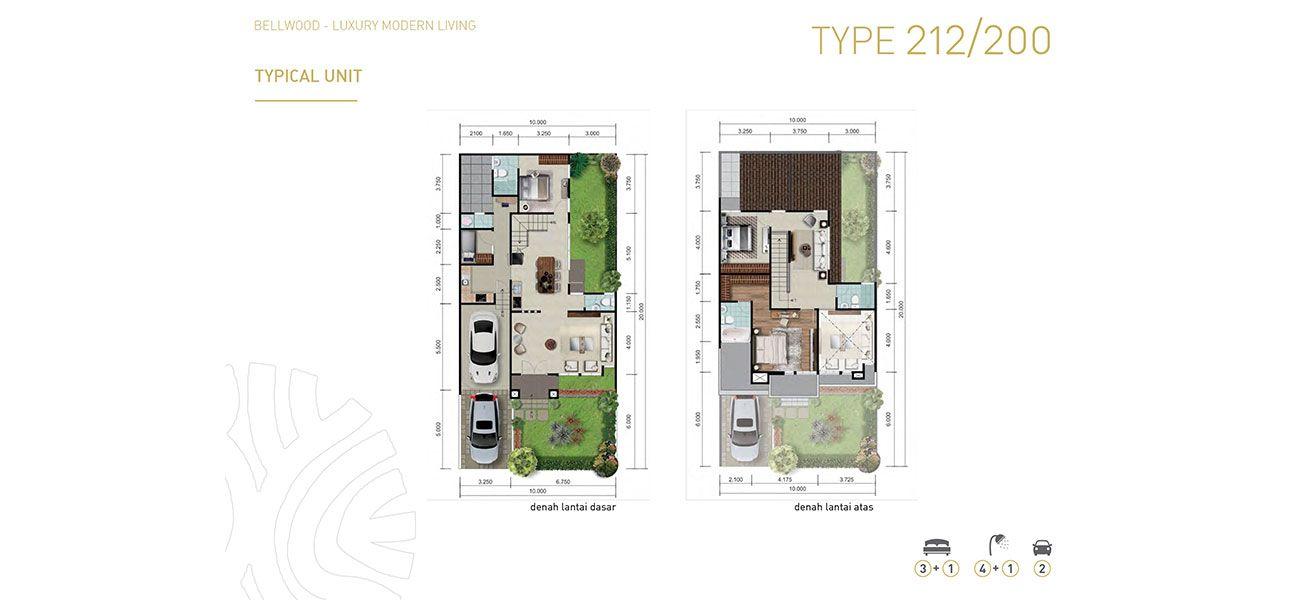 Residensial & Komersial Cluster Bellwood Tipe 212 di Bogor