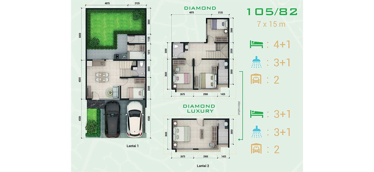 Emerald Terrace at Jatiasih Tipe Diamond
