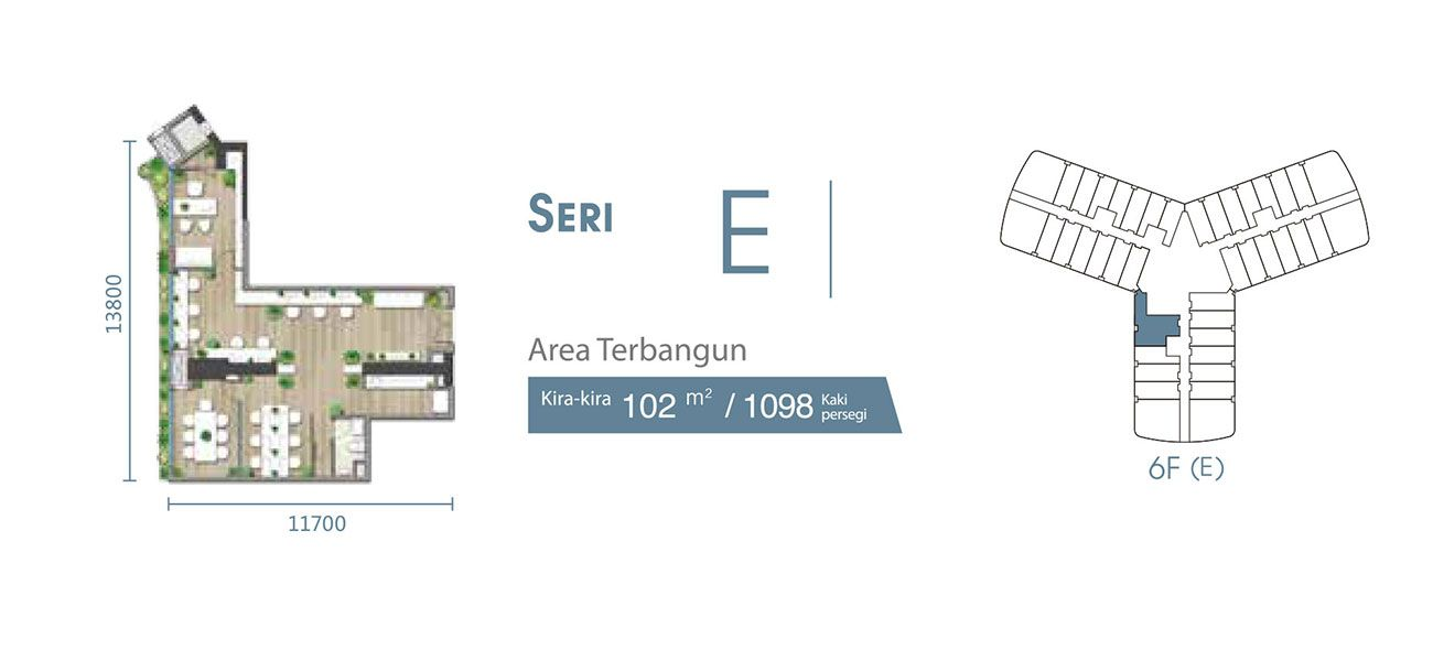 Residensial & Komersial Carnelian Tower at Forest City Seri E di Jakarta Utara