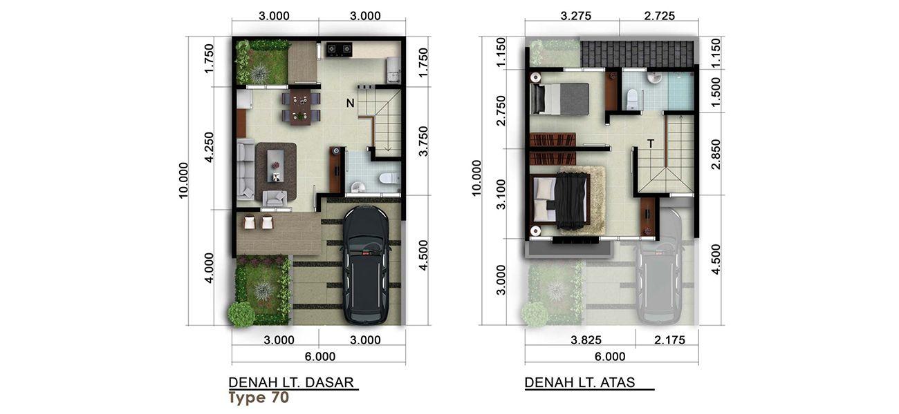 Residensial & Komersial Cluster New Visalia Tipe 70 di Bogor