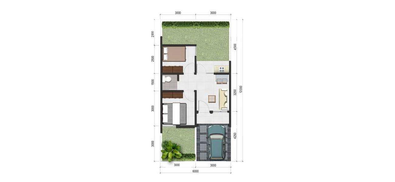 Residensial Padma Serpong Tipe 36  di Bogor